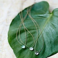 Britta Ambauen Womens Tear Drop Stone Necklace