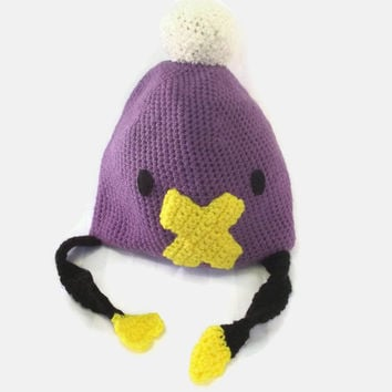 Crochet Character Hat - Anime Duck Winter Beanie - Cosplay Costume  Hat - Handmade Geeky Clothing