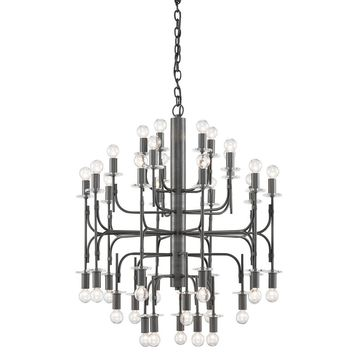Brianza Chandelier in Matte Black design by Currey & Company