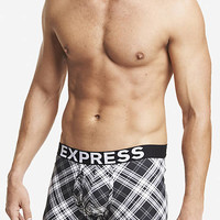 PLAID KNIT BOXER BRIEFS from EXPRESS