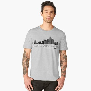'Listen to Detroit Techno' Men's Premium T-Shirt by hypnotzd