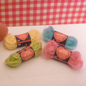 Miniature Dollhouse Yarn Set