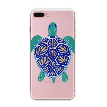 Protect Turtles Cover Case for iPhone 7 7Plus & iPhone 6s 6 Plus & iPhone X 8 Plus with Gift Box