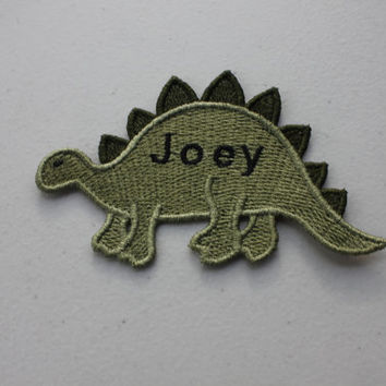 Kid's Dinosaur Personalized Animal  Bookmark for Your Favorite Child or Pet Lover - Custom Embroidery , Handmade in USA