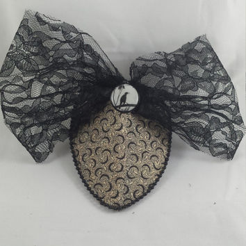 Gothic Black Bird Fascinator Gothic Black Bird Headpiece