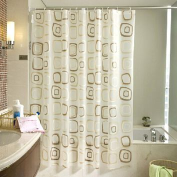 Classic Modern Plaid  Bathroom Curtain Shower for Home Decoration