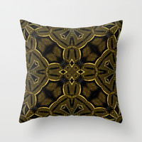 Gold Knight Medieval Geometric Pattern Throw Pillow by Webgrrl
