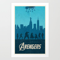 The Avengers Art Print by Bill Pyle
