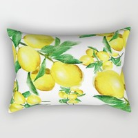 lemon Rectangular Pillow by Color And Color