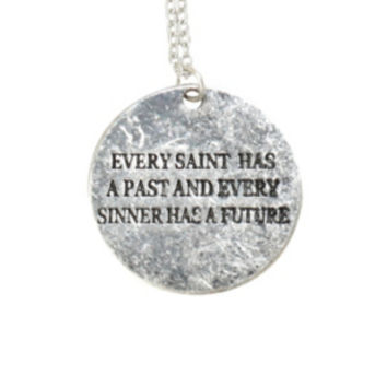 LOVEsick Saint Sinner Quote Necklace
