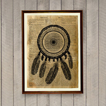 Dreamcatcher poster Tribal print  Native American decor