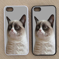 Funny Hipster Grumpy Cat iPhone Case, iPhone 5 Case, iPhone 4S Case, iPhone 4 Case - SKU: 178
