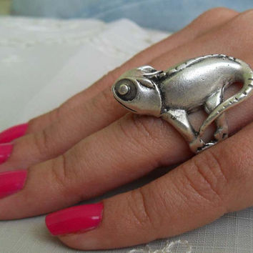 Chameleon Ring by essu on Etsy