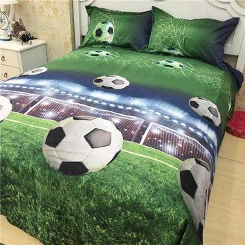 3D Football Bedding Set Autumn Bed Sheet Set Comforter Duvet Cover Sets Bed linen set pillowcase Home Textile