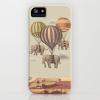 Flight of the Elephants iPhone & iPod Case by Terry Fan