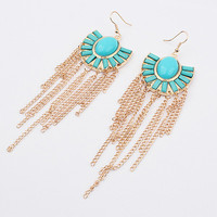 Metal Tassels Earrings [4919116932]