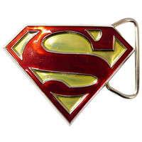 Superman Belt Buckle - Gold