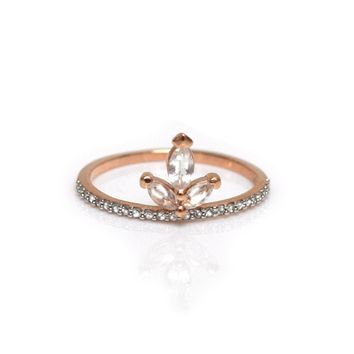 14kt Rose Gold Vermeil Snowflake Ring