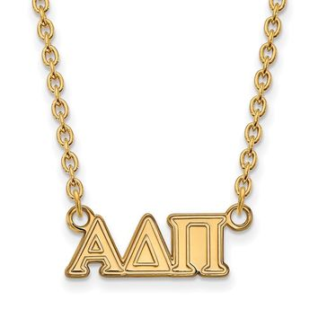 14K Plated Silver Alpha Delta Pi Medium Necklace