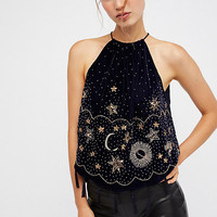 Midnight Magic Embellished Tank
