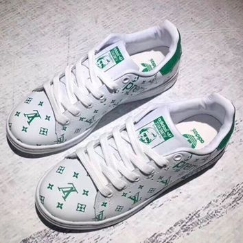Adidas x Louis Vuitton x Supreme Superstar Women Men Shell-toe Flats Sneakers Sport Shoes One-nice™