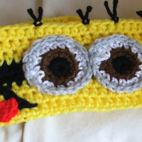 Despicable Me inspired Minion Headband. Headwarmer. Ear Warmer.