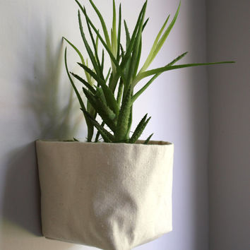Basic canvas storage basket, planter, flower pot - CUSTOMIZABLE - Volcano Store