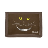 Smiling Cheshire Transparent Cat Wallet