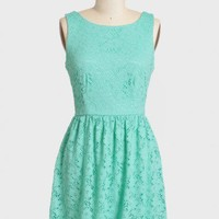 evening sun mint lace dress at ShopRuche.com