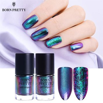 BORN PRETTY Chameleon Nail Polish 9ml Gold Violet Galaxy Glitter Sunset Glow Sequins Nail Lacquer Varnish (Black Base Needed)