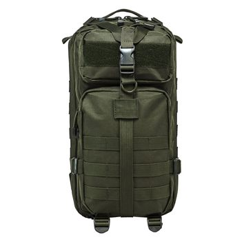 Small Backpack With Zippered Compartment of 669 Cu. In. Of Space - Green
