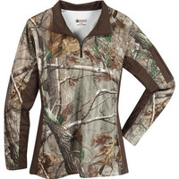 Rocky Women's SilentHunter 1/4-Zip Camo Shirt