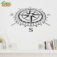 Creative Home Decor Vinyl Removable Compass Wall Sticker Waterproof Living Room Wallpaper