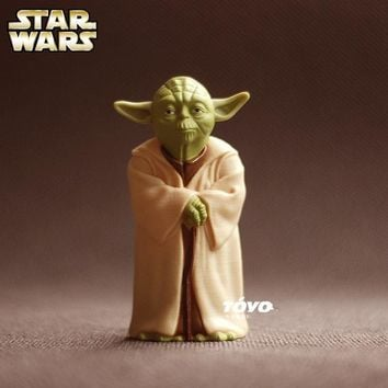 Star Wars Force Episode 1 2 3 4 5  Action Figure Toys Jedi Knight Master Yoda PVC Action Toys Force Awakens McDonalds' Out of Print Toys AT_72_6