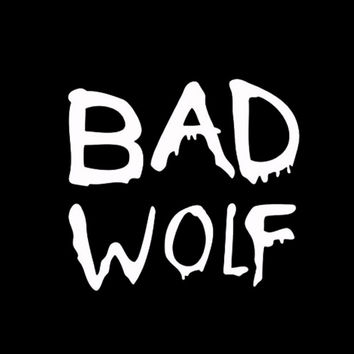 Doctor Who Bad Wolf Car Sticker