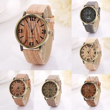 Vintage Wood Grain Watches Fashion Women Quartz Watch Wristwatches Gift Good-looking AP 2