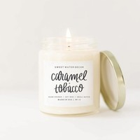 Sweet Water Decor - Caramel + Tobacco Soy Candle 9oz.