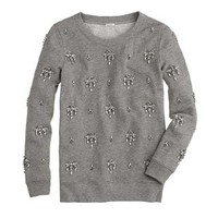 Jeweled chandelier sweatshirt - sweatshirts & sweatpants - Women - J.Crew