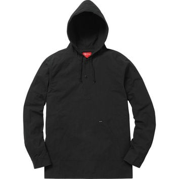 Supreme: Hooded Ripstop Pullover Shirt - Black