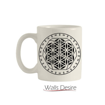 Dodecahedron, Flower Of Life Pattern Decoration, 11 Oz. T00112