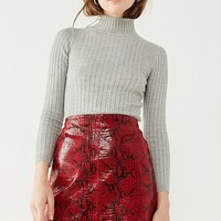 Cooperative Cindy Ribbed Mock-Neck Sweater | Urban Outfitters