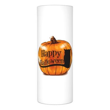3 X 8 LED WRAPPED HAPPY HALLOWEEN CANDLE