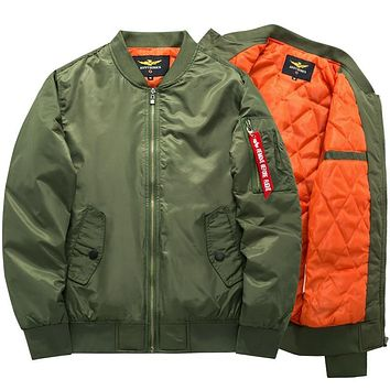 Army Green Military  Ma-1 aviator pilot Air men bomber jacket