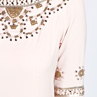 Ayah Heavily Embellished Shift Dresses