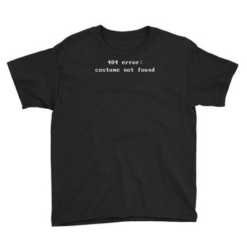 costume error 404 Youth Tee