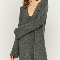 Urban Outfitters Vegas Grey V-Neck Tunic Dress - Urban Outfitters