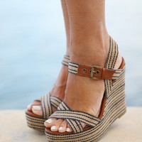 Black and Natural Wedges