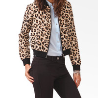 Quilted Leopard Print Jacket