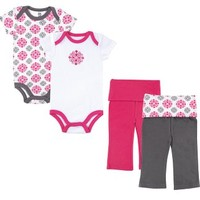 Yoga Sprout 4pc Bodysuit and Pants Set
