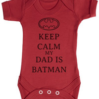 TRS - Calm My Dad Is Batman Baby Bodysuit / Babygrow = 1927923396